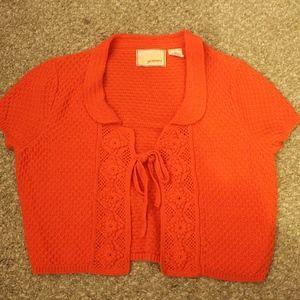 Anthropologie - Crop Top Sweater (Orange)